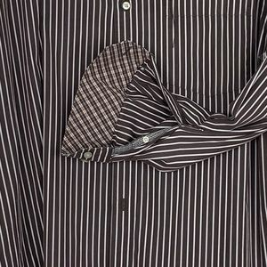 Johnston & Murphy tailored fit striped button down